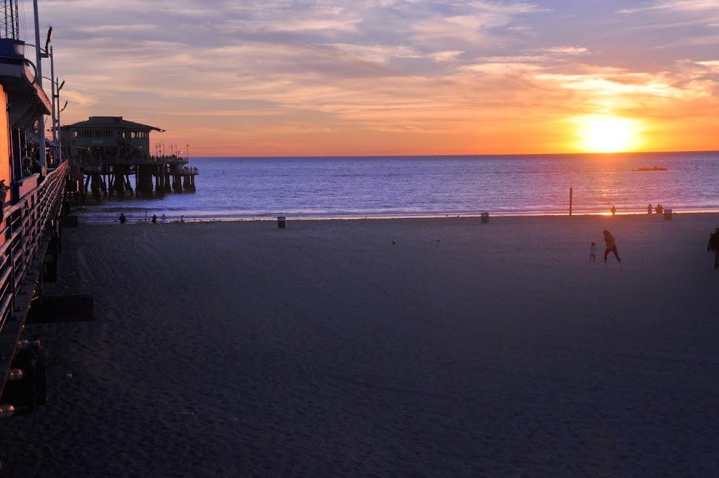 Couché de soleil sur le Pacifique
